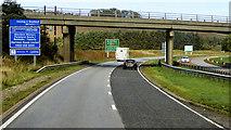 NO8587 : Bridge over the A90 near Stonehaven by David Dixon