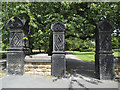 SE2633 : Gateposts to Armley Park by Stephen Craven