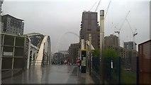 TQ1885 : White Horse Bridge leading to Wembley Stadium by David Anstiss