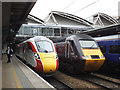 SE2933 : Azuma and HST at Leeds station by Stephen Craven