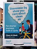 SJ8498 : Clean Air Week, Stevenson Square by David Dixon