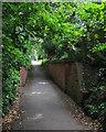 TQ5838 : Tunbridge Wells: railway remains on Upper Cumberland Walk by John Sutton