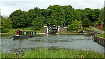 SP1876 : Narrowboat by Knowle Top Lock near Solihull by Roger  Kidd
