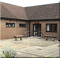 SO9218 : Sobey Suite entrance, Shurdington Community Centre by Jaggery