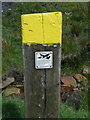 SD8925 : Waymark post provided by CROWS, Green's Clough, Cliviger by Humphrey Bolton