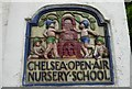 TQ2777 : Chelsea Open Air Nursery School, Glebe Place by Marathon