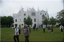TQ1572 : View of Strawberry Hill House from the green at the rear of the house by Robert Lamb