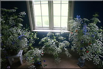 TQ1572 : View of flowers in Strawberry Hill House #3 by Robert Lamb