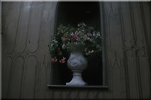TQ1572 : View of flowers in a vase in Strawberry Hill House by Robert Lamb