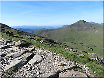 SH6153 : View south from the Watkin Path towards Yr Aran by Gareth James