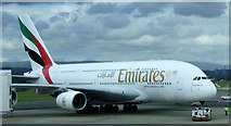 NS4766 : Emirates Airbus A380 at Glasgow Airport by Thomas Nugent