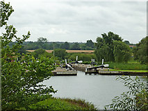 SP1876 : Knowle Locks south-east of Solihull by Roger  Kidd