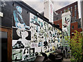 SJ8398 : Manchester Icons Mural, Nag's Head Roof Terrace by David Dixon