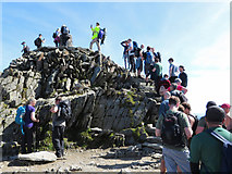 SH6054 : Snowdon's summit and its queue by Gareth James