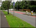 ST2987 : Combined speed limit and speed camera sign, Risca Road, Newport by Jaggery