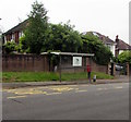 ST2987 : Bus stop and shelter on the north side of Risca Road, Newport by Jaggery