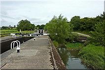 SP1876 : Lock flight near Knowle, Solihull by Roger  Kidd