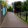 SS9795 : Entrance path to Ton Pentre railway station by Jaggery