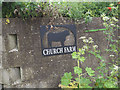 TL9597 : Church Farm sign by David Pashley