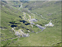 SH6152 : View over South Snowdon Quarry and Cwm Llan by Gareth James