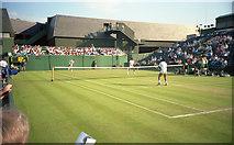 TQ2472 : Wimbledon 1988 - Court 14 by Barry Shimmon