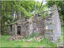SH5645 : Derelict building at Plas-llyn by Gareth James