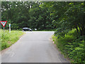TL8289 : Minor road junction with A134 by David Pashley