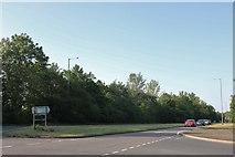 SP8587 : Uppingham Road at the corner of Danesholme Road by David Howard