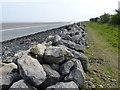 SJ1879 : Coastal defences along the Wales Coast Path by Mat Fascione