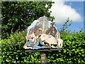 TG2625 : Detail of Swanton Abbott village sign by Adrian S Pye