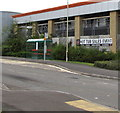 ST1588 : Bus stop and shelter in Gallagher Retail Park, Caerphilly by Jaggery