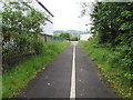 ST1688 : White line towards Gallagher Retail Park, Caerphilly by Jaggery