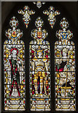 TG2308 : Stained glass window, Norwich Cathedral by Julian P Guffogg