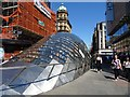 NS5865 : Glass roof of the entrance to St Enoch Subway Station by Philip Halling