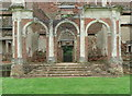 TL0339 : Loggia in the north front of Houghton House, Ampthill by Humphrey Bolton