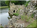 TQ0959 : The outside of the Crystal Grotto at Painshill by Marathon