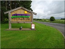 NT6226 : Entrance sign, Lilliardsedge Holiday Park by Philip Halling