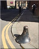 NS5965 : Cast-iron bollard, Virginia Street, Glasgow by Robin Stott