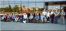 NS5566 : Geographers outside Riverside Museum by Richard Sutcliffe
