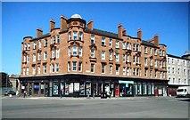 NS5964 : Red sandstone tenements by Richard Sutcliffe
