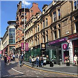 NS5965 : North on Buchanan Street, Glasgow by Robin Stott