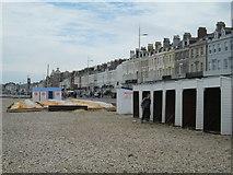 SY6879 : Esplanade and beach, Weymouth by David Weston