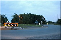 TL2863 : Roundabout on Ermine Street, Papworth Everard by David Howard