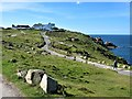 SW3425 : Looking South from the First and Last House, Land's End by G Laird