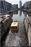SE3032 : Water taxi enters Leeds Dock, Leeds by Ian S
