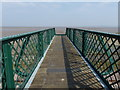 SJ1482 : Footbridge to the beach at Ffynnongroyw by Mat Fascione