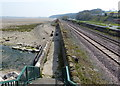 SJ1482 : North Wales Coast Line towards Mostyn by Mat Fascione
