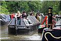 SP5365 : Narrow boat festival - congestion by Chris Allen
