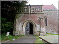 ST6091 : Entrance to St Arilda's Church, Oldbury-on-Severn by Jaggery