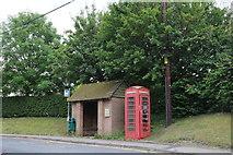 SU2061 : Bus shelter on Burbage Road, Easton Royal by David Howard